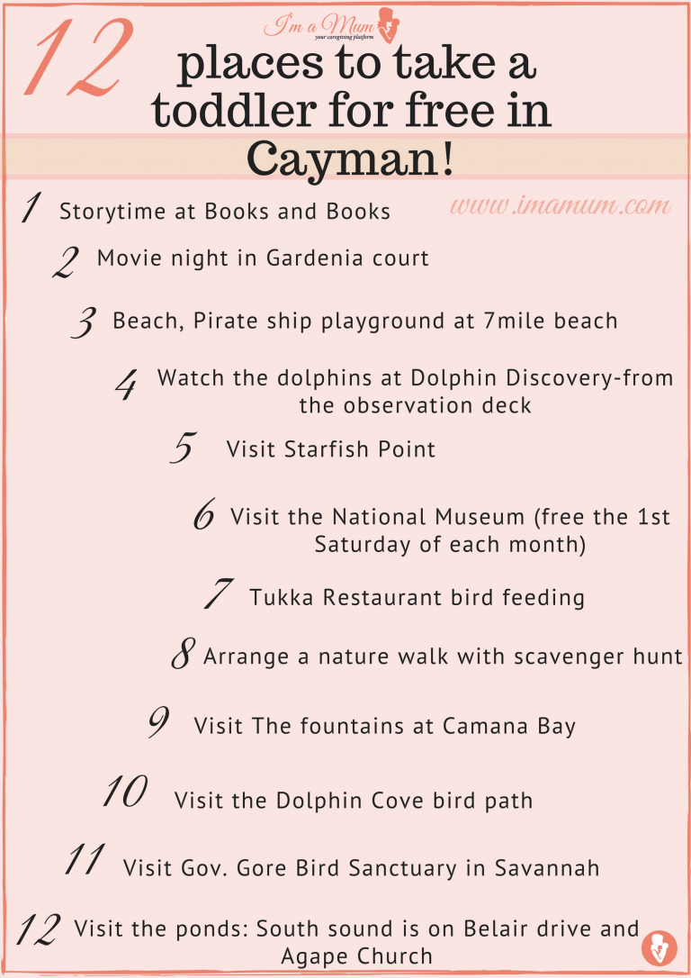 12 PLACES TO TAKE A TODDLER FOR FREE IN CAYMAN!