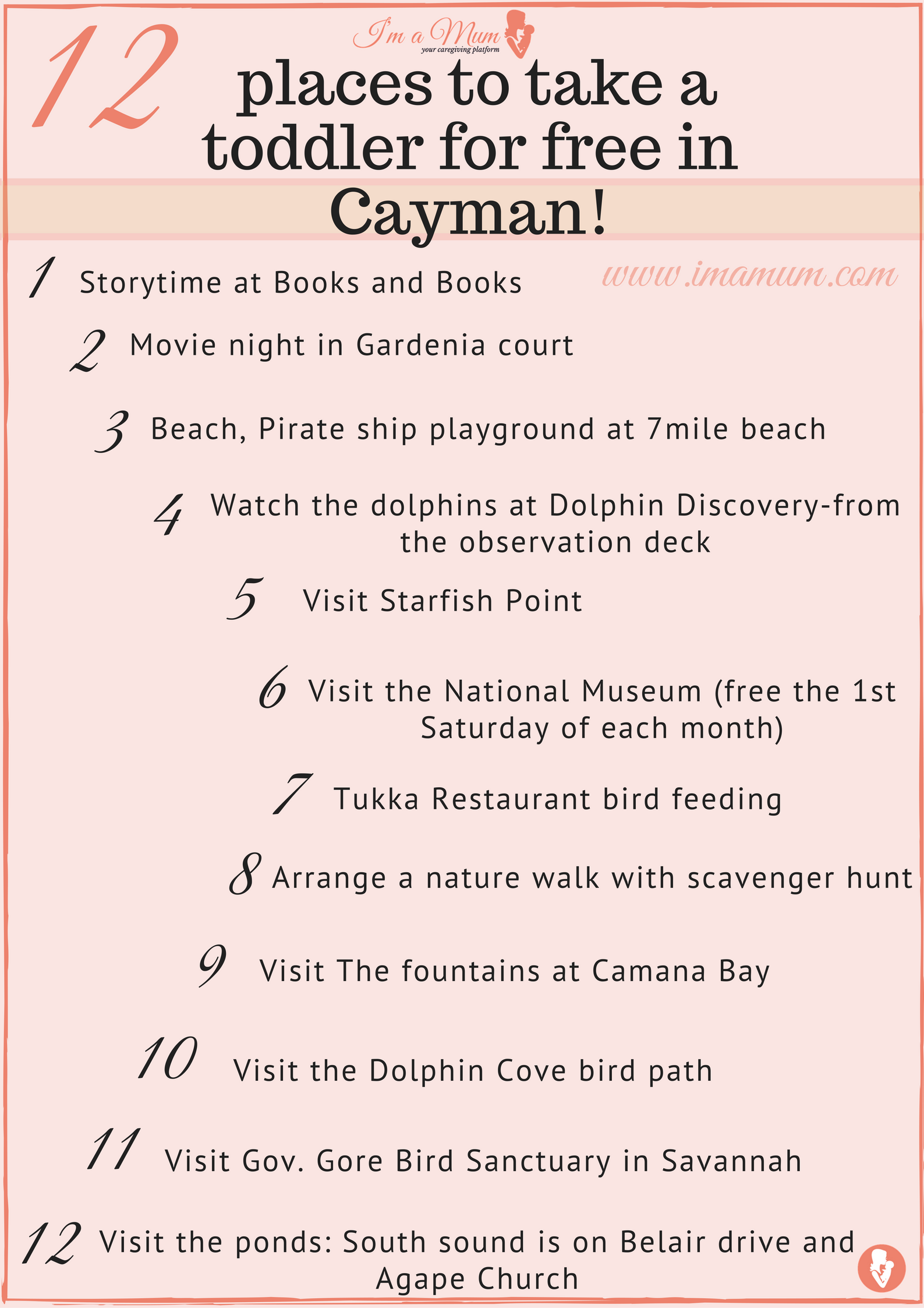 12 Places to take a toddler for free in Cayman